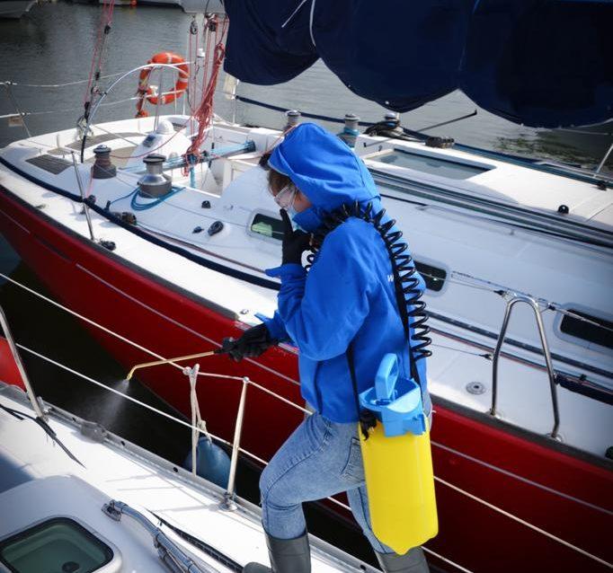 Desinfección para volver a navegar